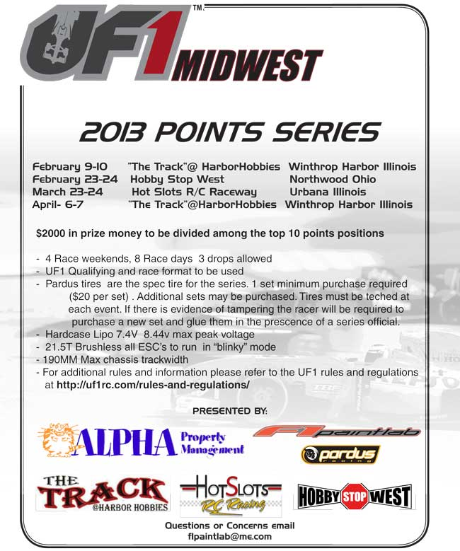 2013 UF1 Midwest Points Series Flyer