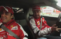 Alonso and Massa Drive the Ferrari 458 Italia